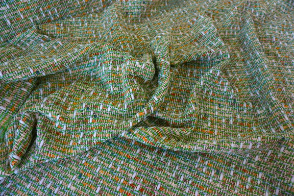 Lime Green Confetti Tweed Suiting
