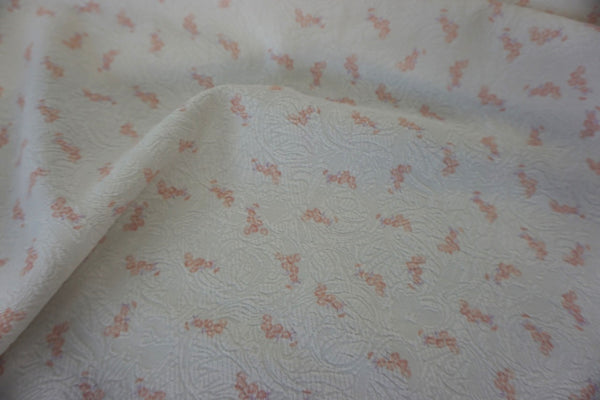 Floral Double Border Print on Cotton Blend Jacquard