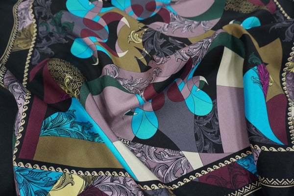 PANEL- Versace Scarf Print on Silk Twill