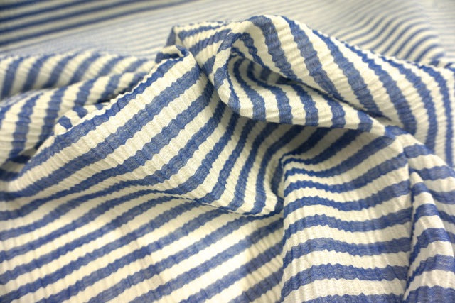 Lightweight Silk Blend Stripe Cloquè