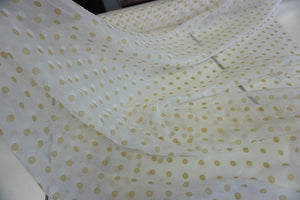 Double Polka Dot Print on Crinkle Chiffon