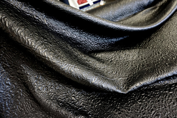 Quilted Wet Leather-look, Black