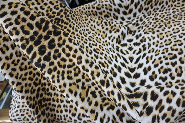 Heavy Stretch Cotton Sateen, Leopard Print