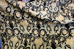 Heavy Regal Gold and Black Jacquard