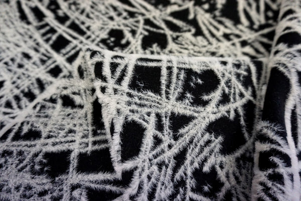 Black Melton with 'White Frost' Embroidery
