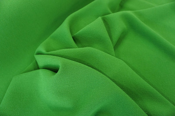 Double Cloth Wool Crepe, Kelly Green
