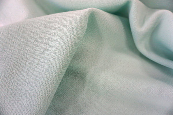 Double Cloth Wool Crepe, Mint Green