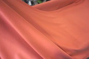 Coral Pink Brushed Melton Coating