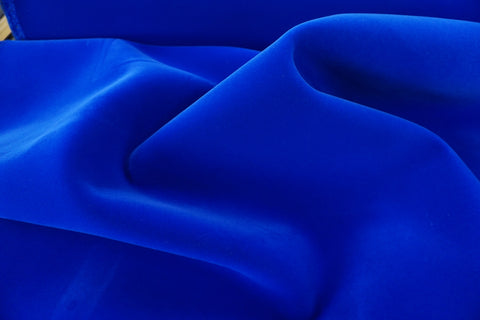 Bright Royal Blue Flocked Neoprene, Bonded Velvet