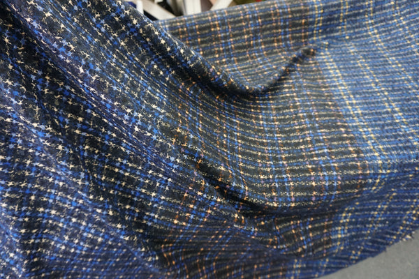 Houndstooth Check Suiting With Mohair Wool Blend