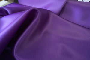 Heavy Satin Organza, Cadbury Purple