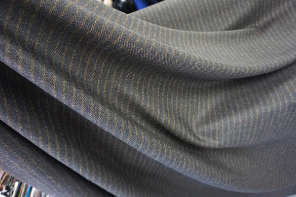 Italian Stripe Gabardine Wool Suiting