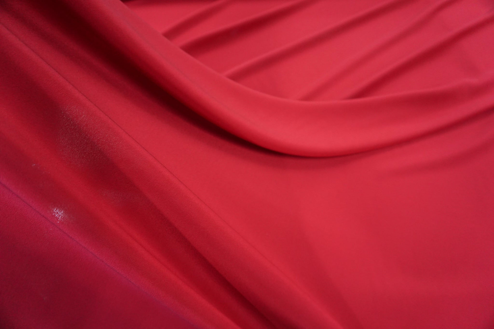 Crepe de Chine, Roberto Cavalli Collection, Deep Red