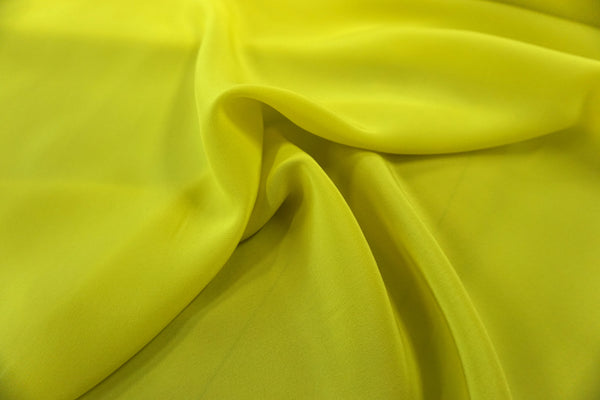 Crepe de Chine, Roberto Cavalli Collection, Chartreuse Yellow