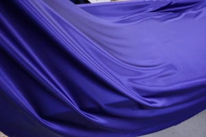 Indigo Blue Silk Satin, Roberto Cavalli Collection