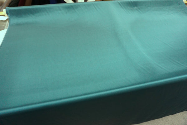 Dark Teal Green Silk Satin, Roberto Cavalli Collection
