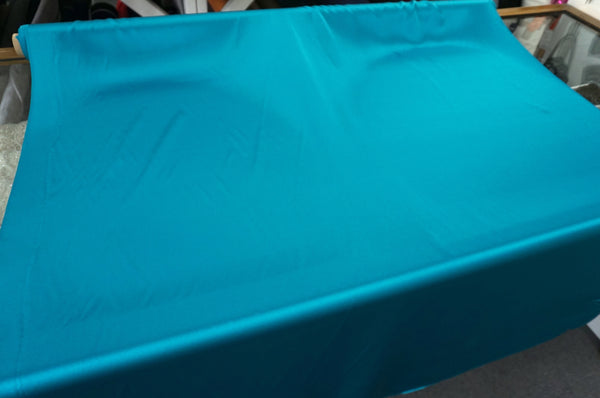 Teal Green Silk Satin