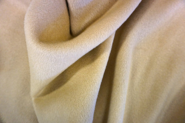 Beige Brushed Gaberdine Coating