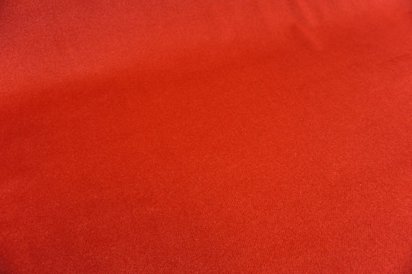Strawberry Red Brushed Gaberdine Coating
