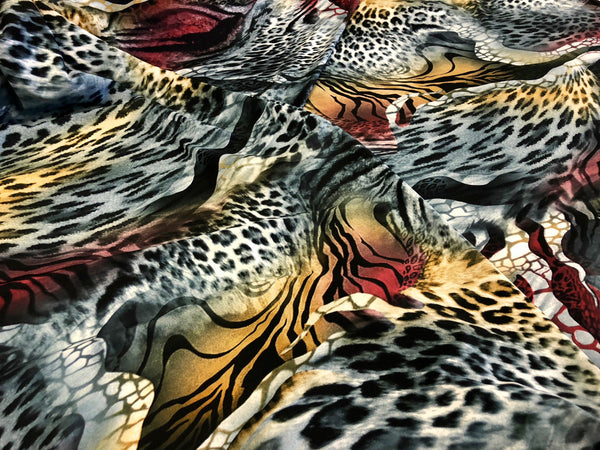 On Safari Print on Stretch Jersey