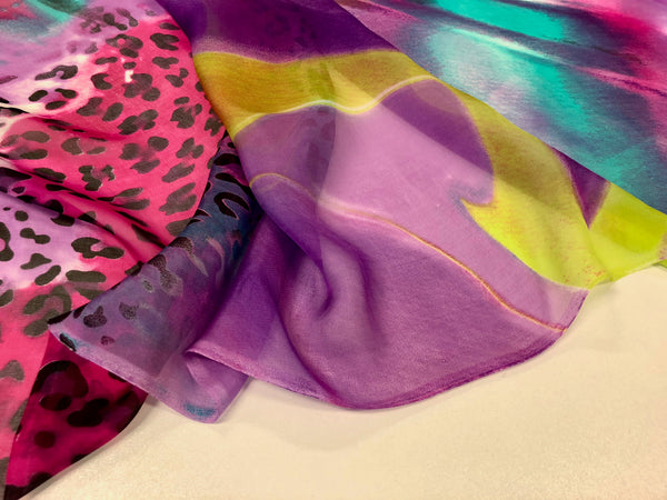 Vivid Dreams Print on Silk Chiffon