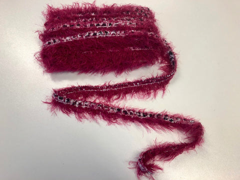 Maroon Textured Braid Trim