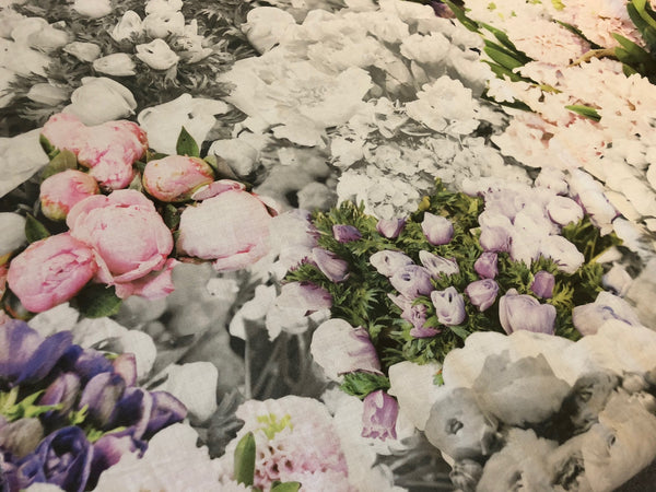 Tulips & Hyacinths Printed on Voile