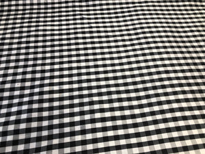 Black & White Gingham Check Silk Taffeta (2.55mt)