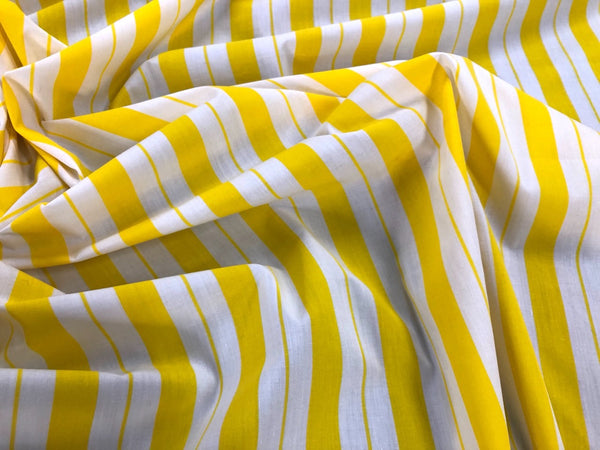 Yellow Stripe Poplin (2.5mt)