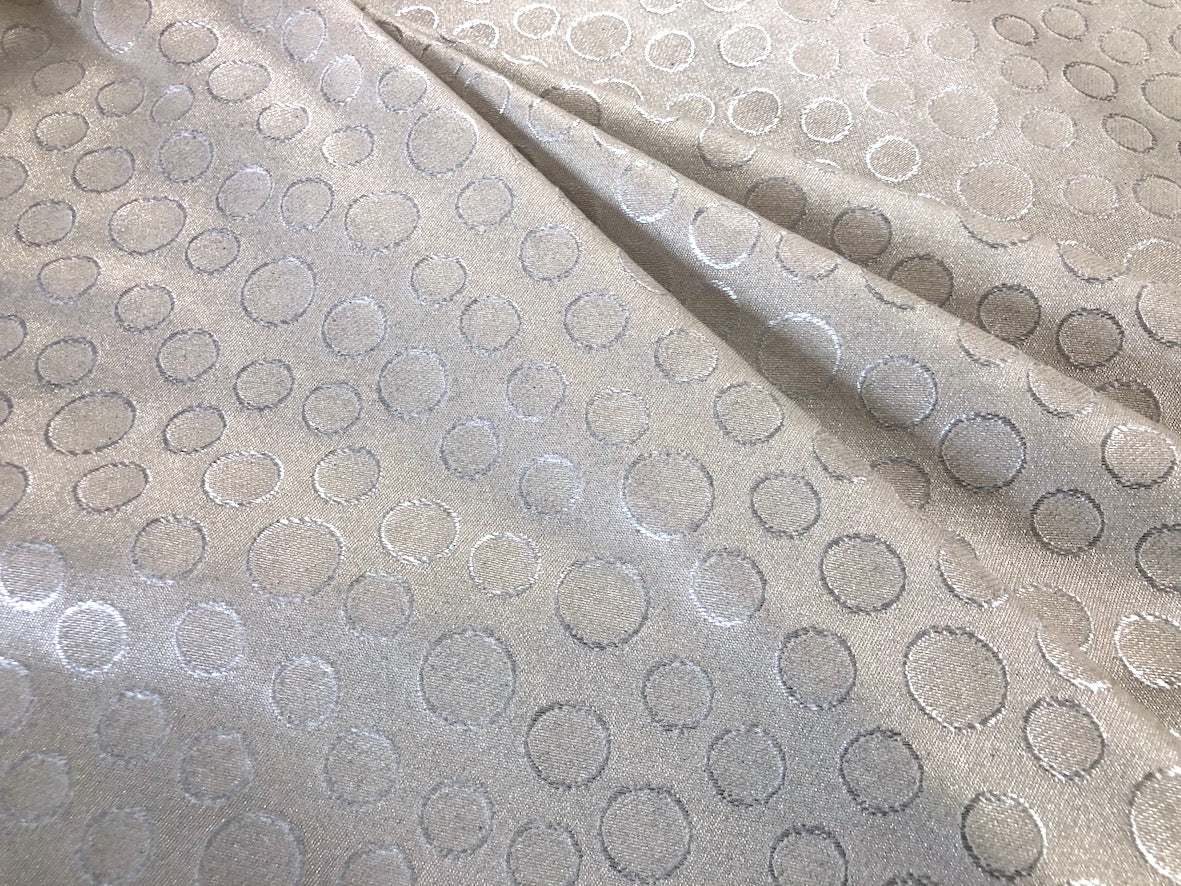 Silver Coated, Polka Spot Jacquard Suiting