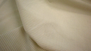 Italian Stripe Cotton Shirting, Off White