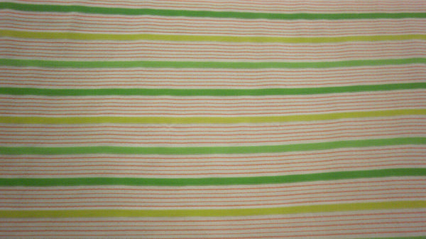 Citrus Stripe Stretch Cotton Italian Shirting