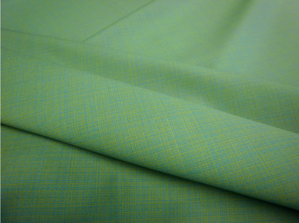 Mid-weight Melange Suiting, Green Lagoon