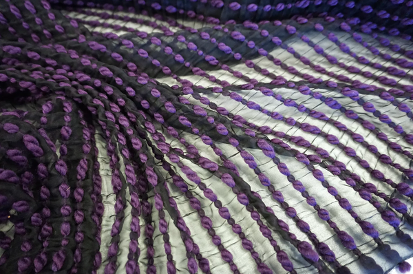 Twice Woven Purple Twist Chiffon