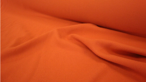 Double Cloth Wool Crepe, Tangerine Orange