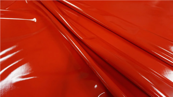 Latex Coated Stretch Lycra, True Red