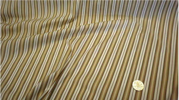 Rigato Stretch Stripe Shirting, Caramel