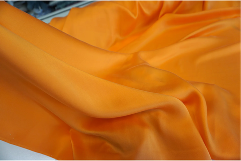 Brushed Silk Satin, Orange Sherbert