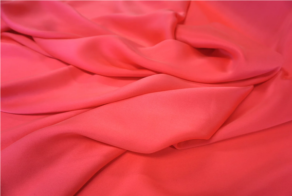 Brushed Silk Satin, Fluro Pink
