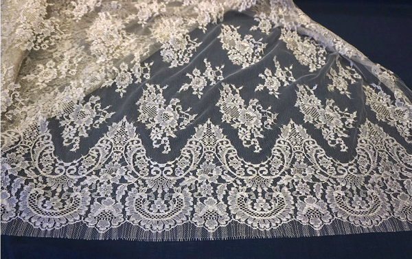 Wide Vintage French Lace, Gold on Gold