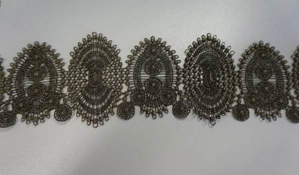 Bronze Macrame Lace Trim