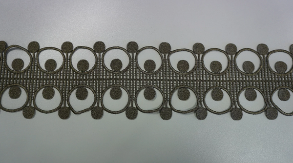 Bronze Art Deco Guipure Lace Trim