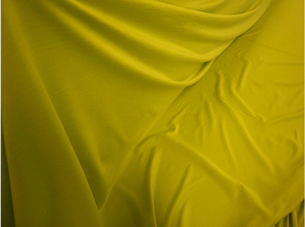 Brushed Cupro Jersey, Chartreuse