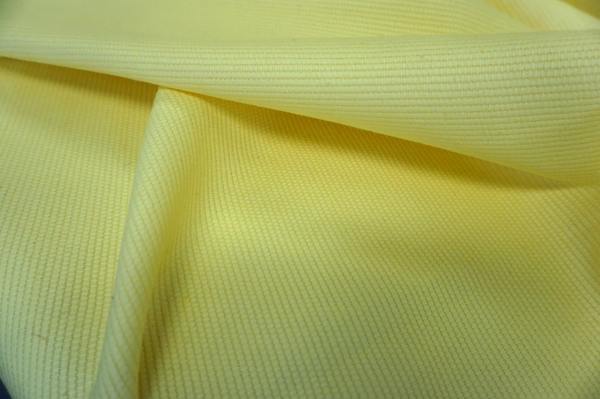 Pale Yellow, Basket Weave Cotton