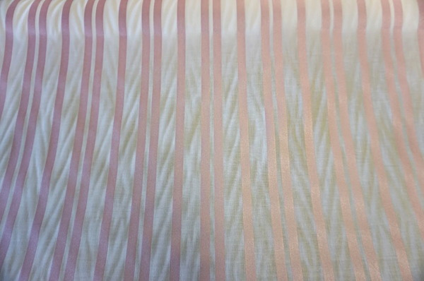 Fine Japanese Poplin with Pink Pearl Stripe Print