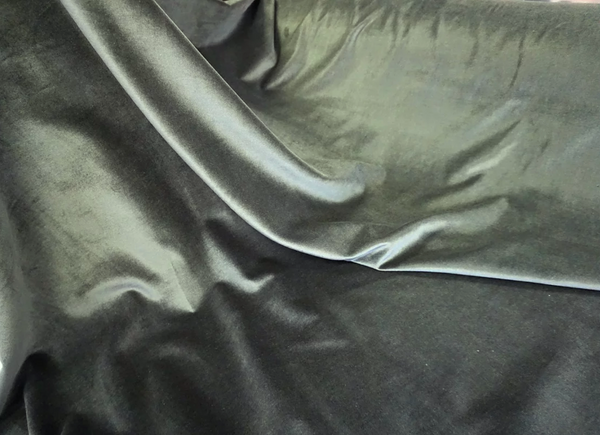 Superfine Cotton Velvet, Forest Grey
