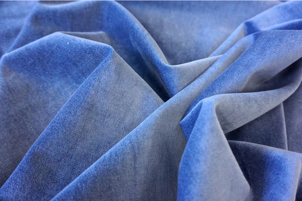 Cornflower Blue Cotton Velvet