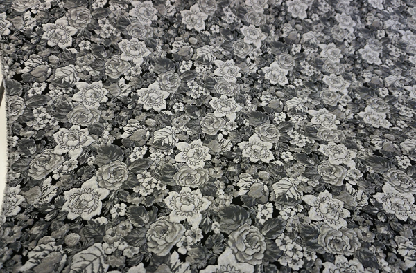Silver Grey Rose Jacquard Suiting