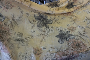 Botanics Print on Slubbed Muslin