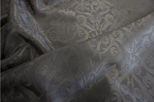 Lightweight Black Damask Jacquard